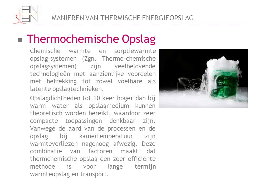 Thermochemische Opslag