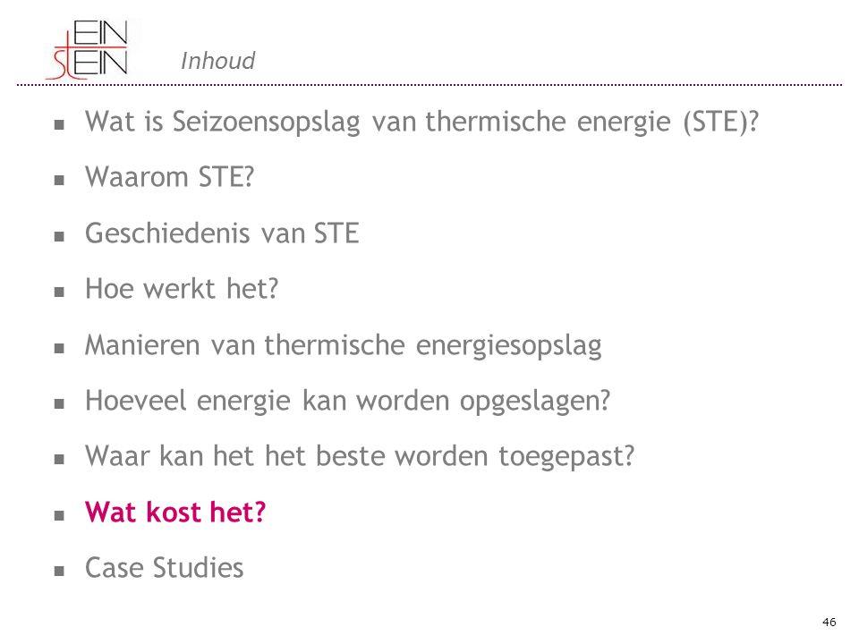Wat is Seizoensopslag van thermische energie (STE) Waarom STE