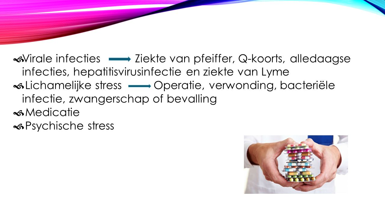 Virale infecties Ziekte van pfeiffer, Q-koorts, alledaagse infecties, hepatitisvirusinfectie en ziekte van Lyme
