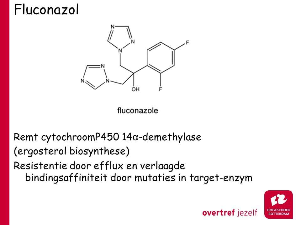 Fluconazol Remt cytochroomP450 14α-demethylase