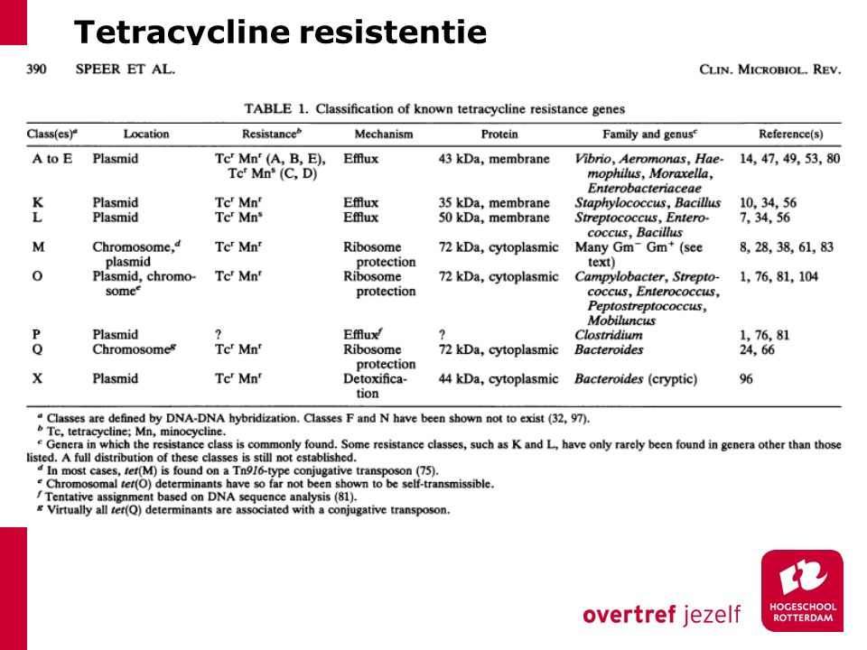 Tetracycline resistentie