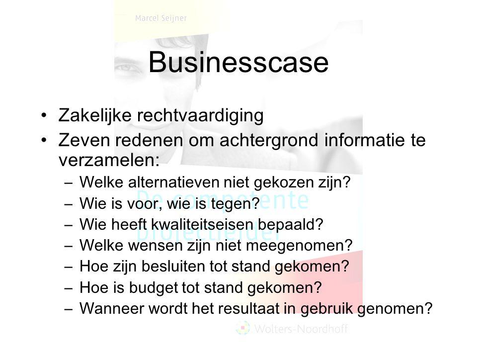 Businesscase Zakelijke rechtvaardiging