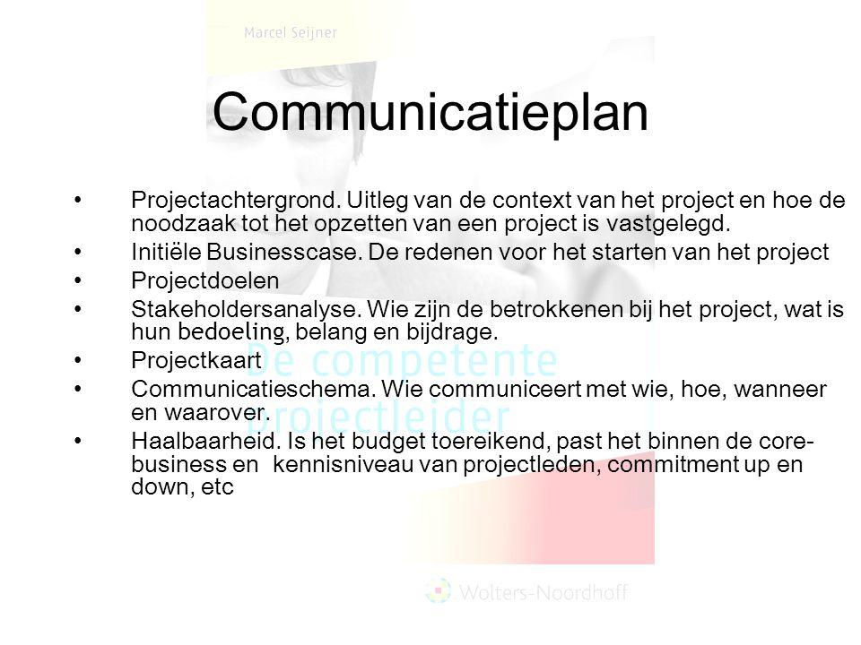 Communicatieplan Projectachtergrond. Uitleg van de context van het project en hoe de noodzaak tot het opzetten van een project is vastgelegd.