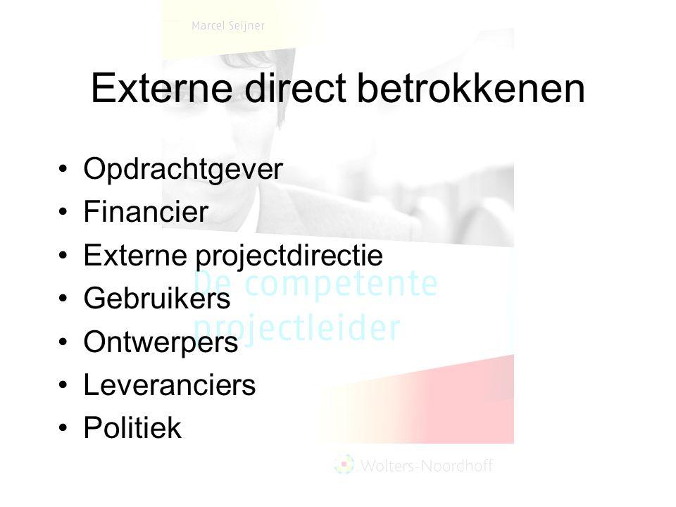 Externe direct betrokkenen