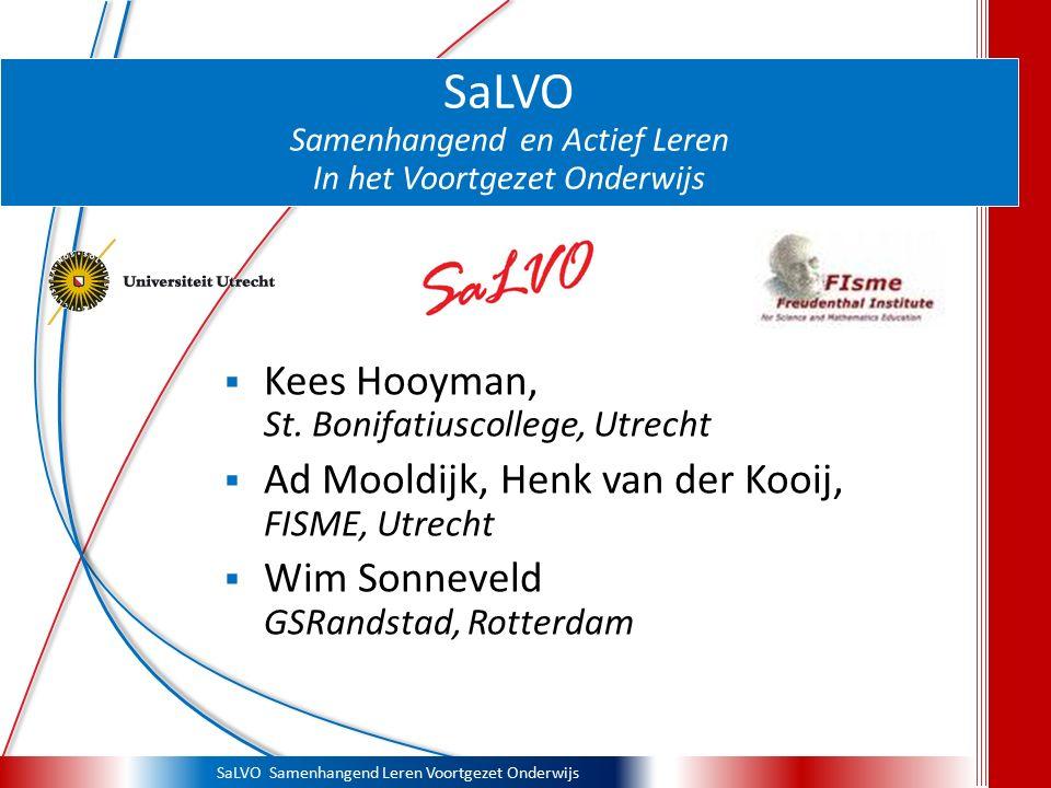 SaLVO Samenhangend en Actief Leren