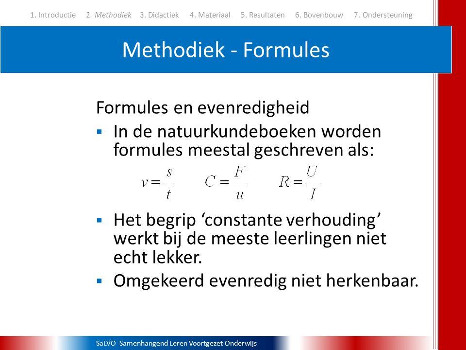 Methodiek - Formules Formules en evenredigheid