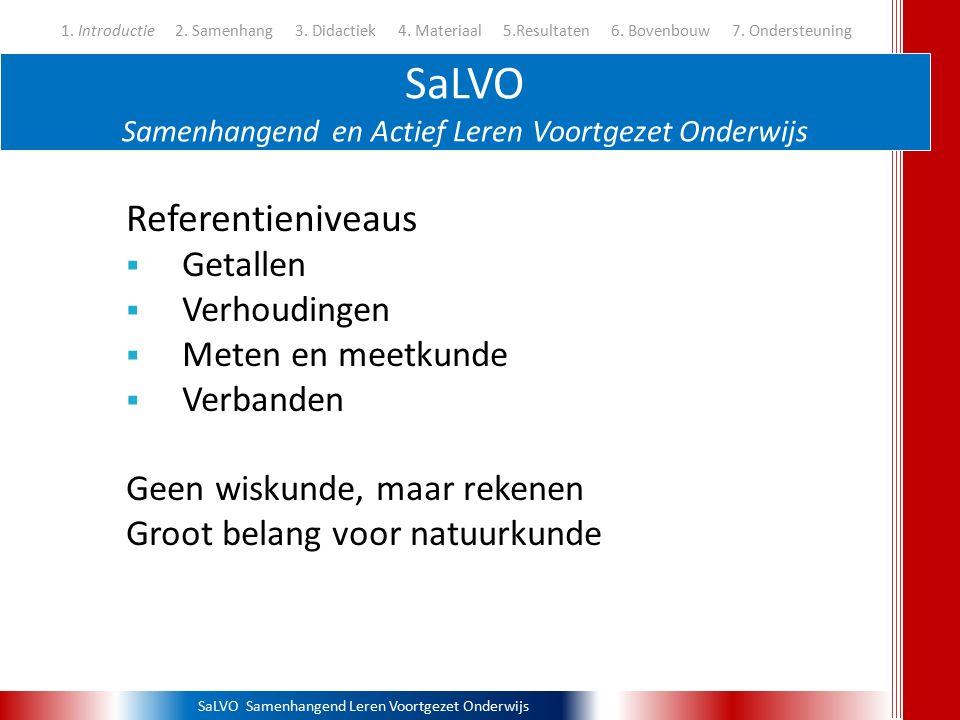 SaLVO Samenhangend en Actief Leren Voortgezet Onderwijs