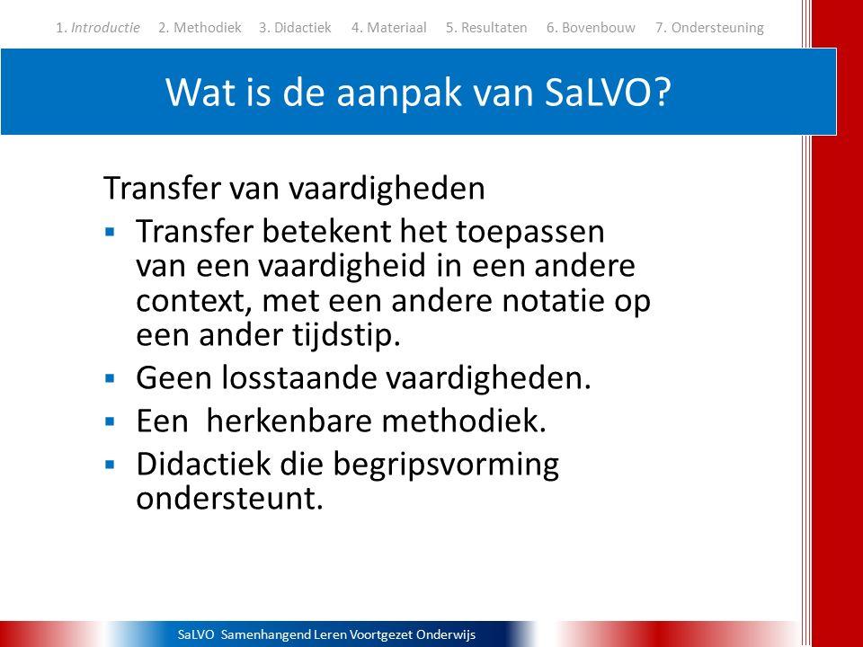 Wat is de aanpak van SaLVO