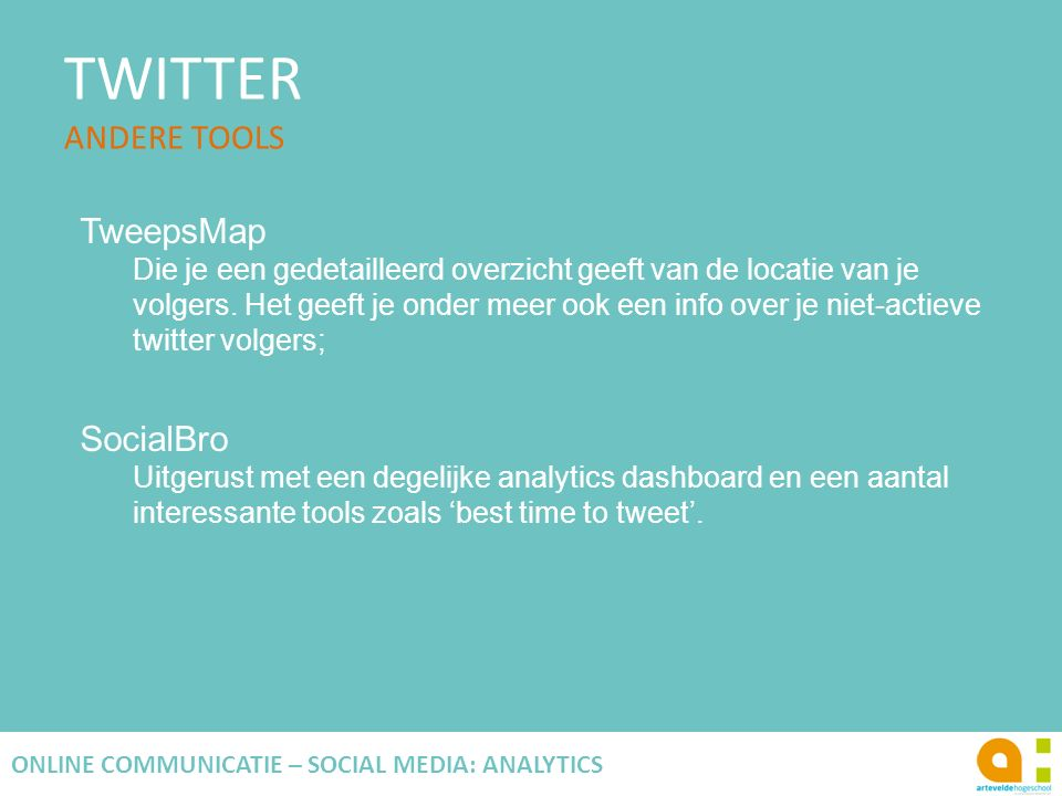 TWITTER ANDERE TOOLS
