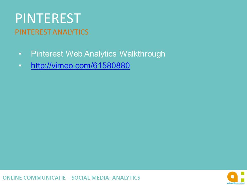 PINTEREST PINTEREST ANALYTICS