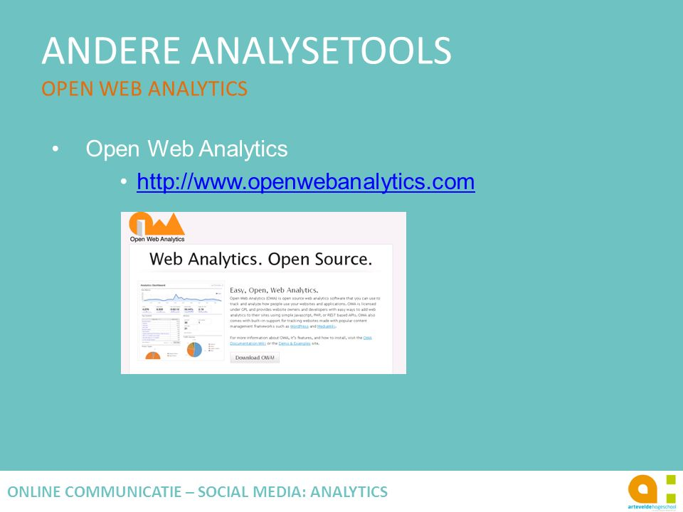 ANDERE ANALYSETOOLS OPEN WEB ANALYTICS