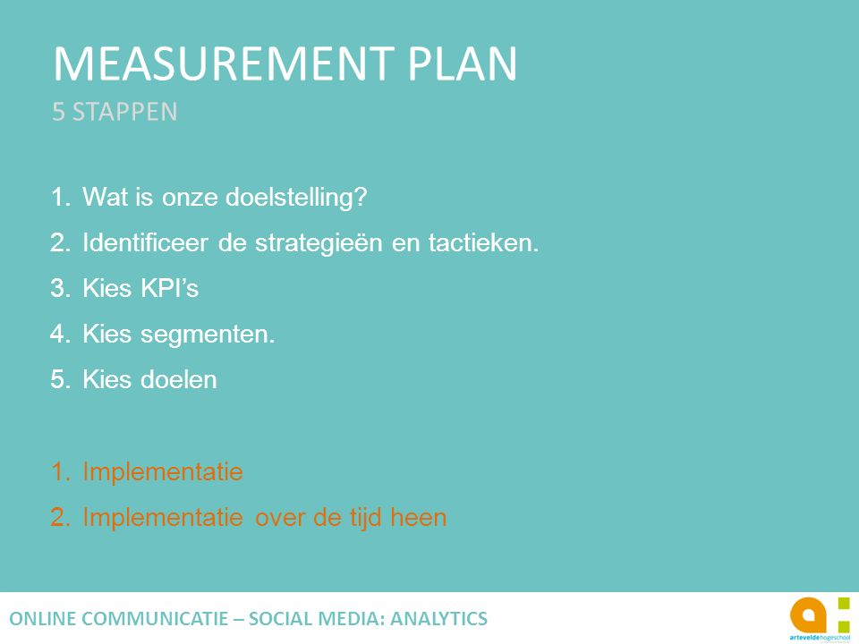 MEASUREMENT PLAN 5 STAPPEN