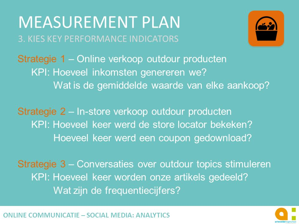MEASUREMENT PLAN 3. KIES KEY PERFORMANCE INDICATORS