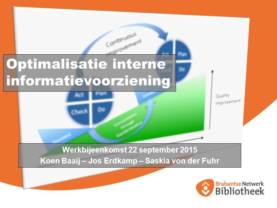 Optimalisatie interne informatievoorziening