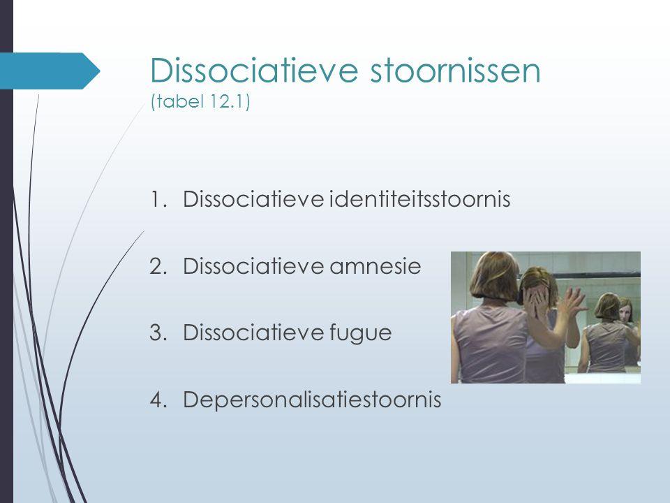 Dissociatieve stoornissen (tabel 12.1)