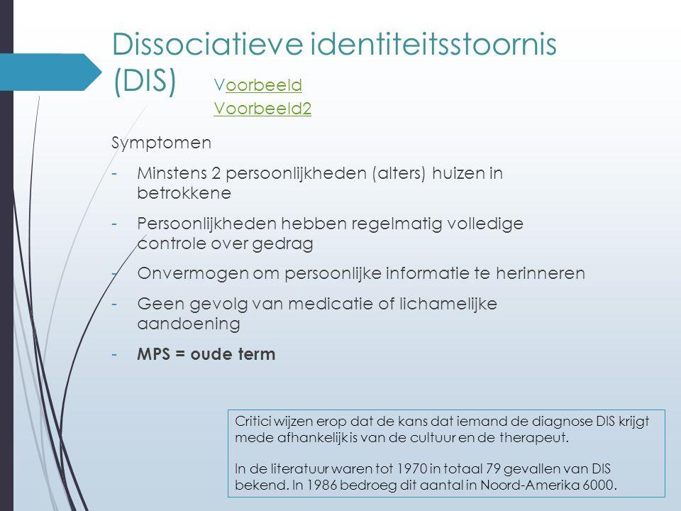 Dissociatieve identiteitsstoornis (DIS) Voorbeeld Voorbeeld2
