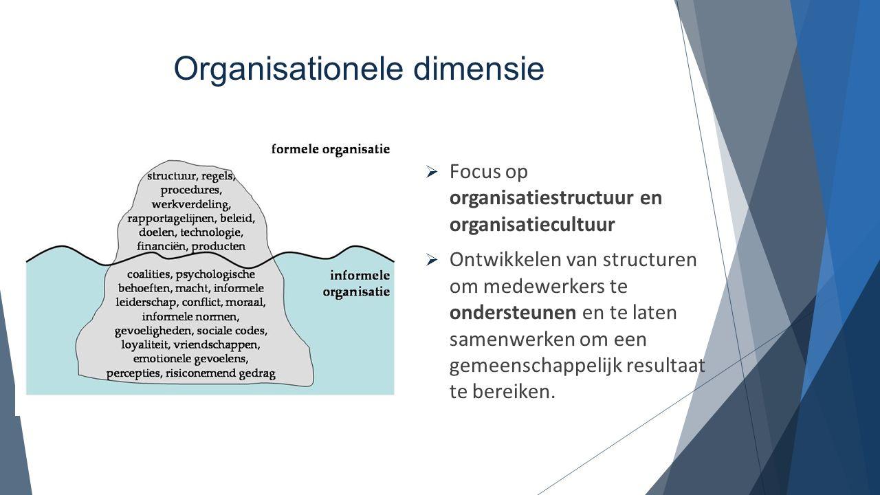 Organisationele dimensie