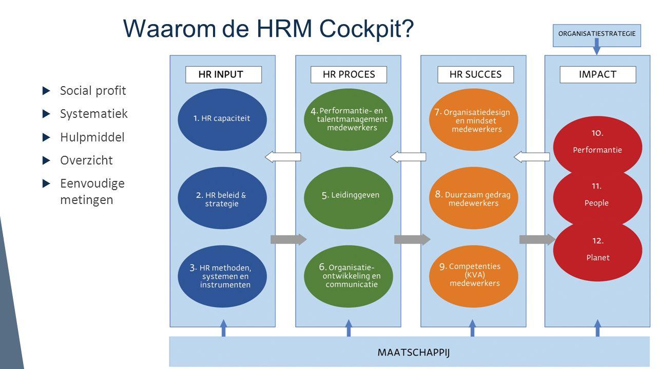 Waarom de HRM Cockpit Social profit Systematiek Hulpmiddel Overzicht