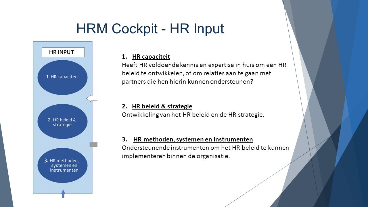 HRM Cockpit - HR Input HR capaciteit