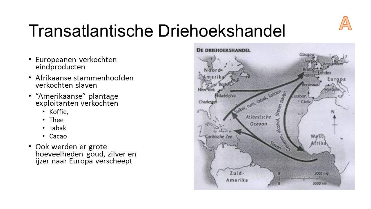 Transatlantische Driehoekshandel