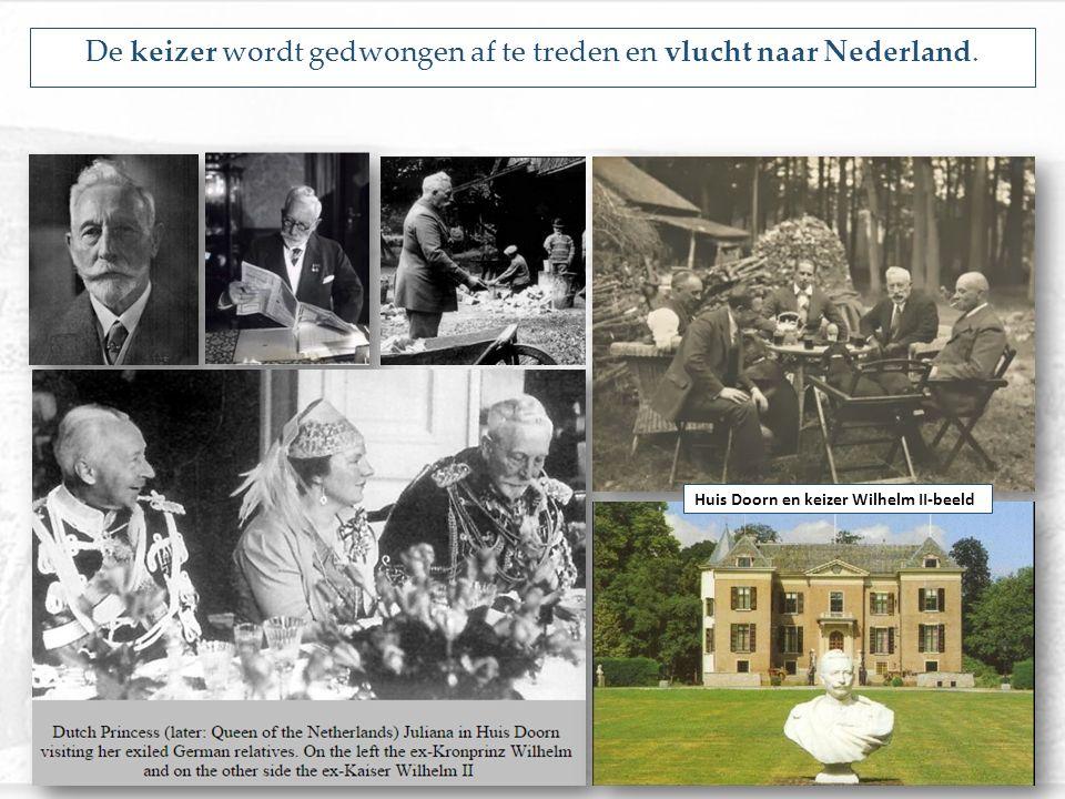 De keizer wordt gedwongen af te treden en vlucht naar Nederland.
