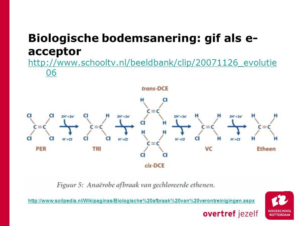 Biologische bodemsanering: gif als e-acceptor