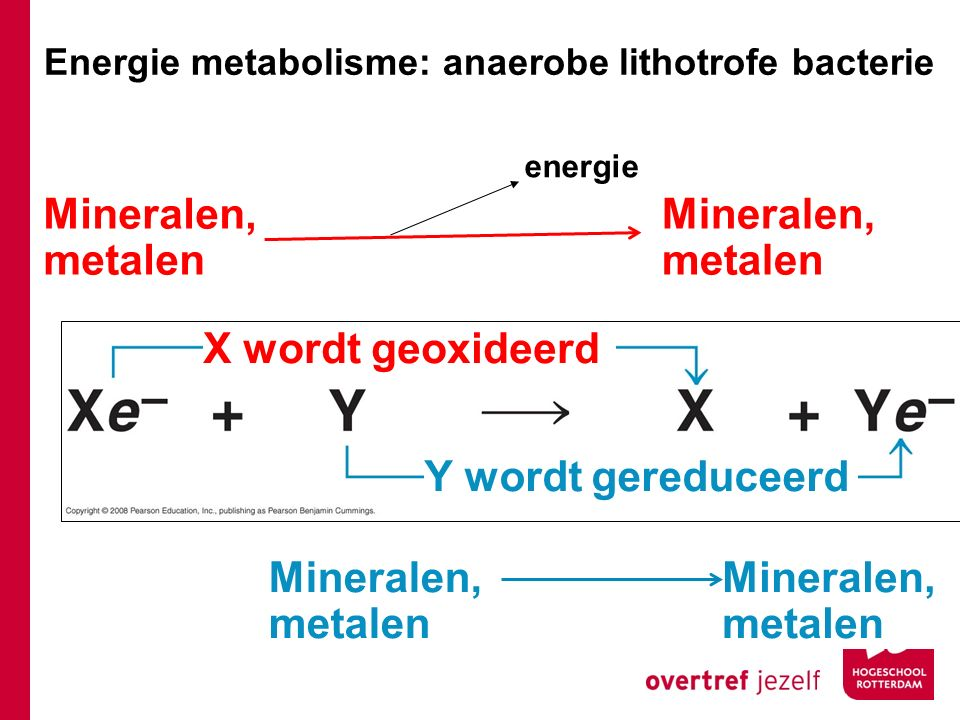 Mineralen, metalen Mineralen, metalen X wordt geoxideerd
