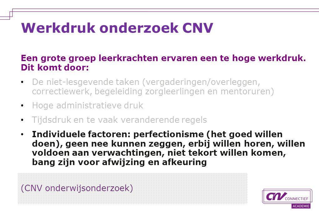Werkdruk onderzoek CNV