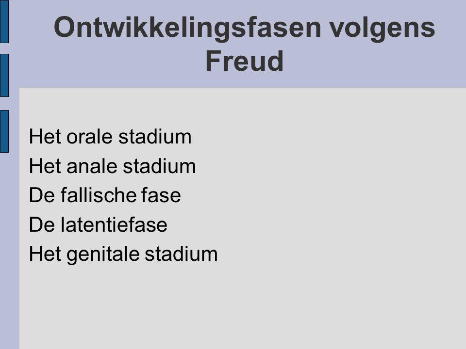 Ontwikkelingsfasen volgens Freud