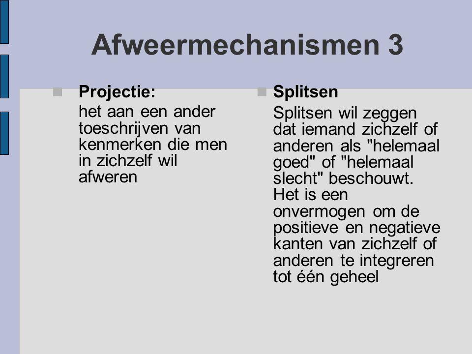 Afweermechanismen 3 Projectie: