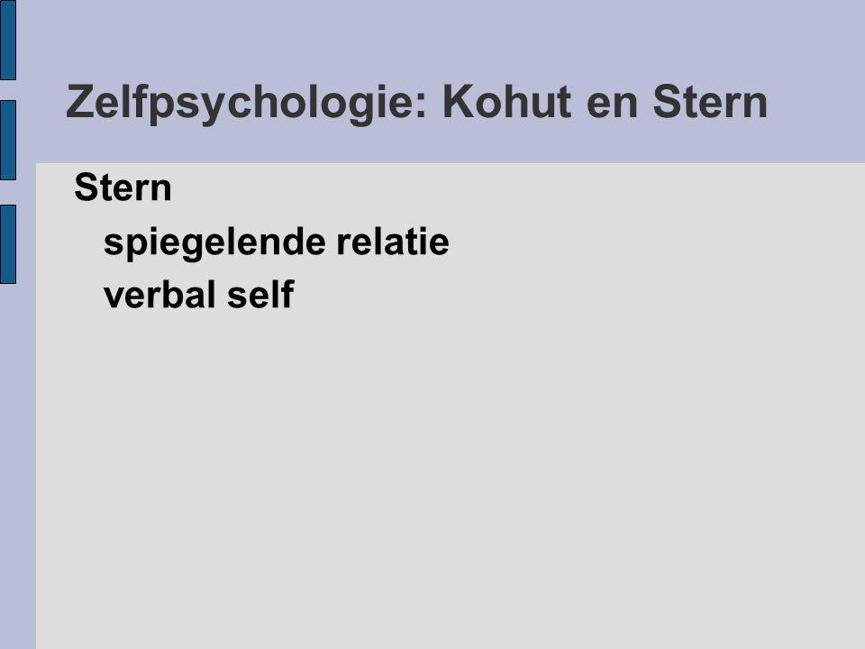 Zelfpsychologie: Kohut en Stern