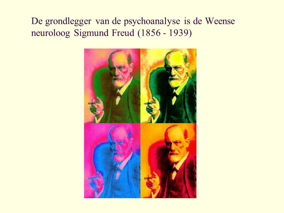 De grondlegger van de psychoanalyse is de Weense neuroloog Sigmund Freud (1856 - 1939)