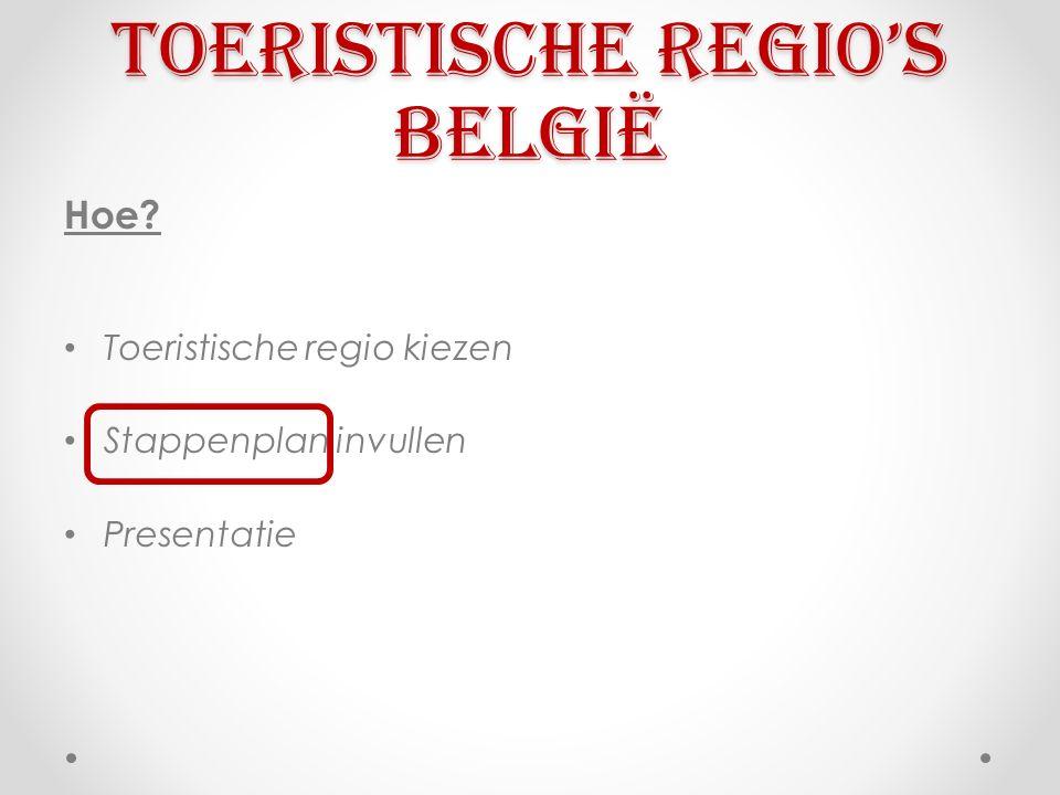 Toeristische regio's België