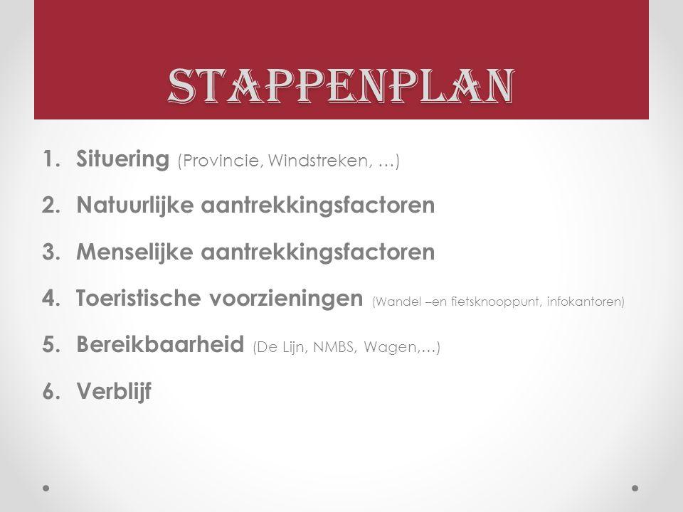 Stappenplan Situering (Provincie, Windstreken, …)
