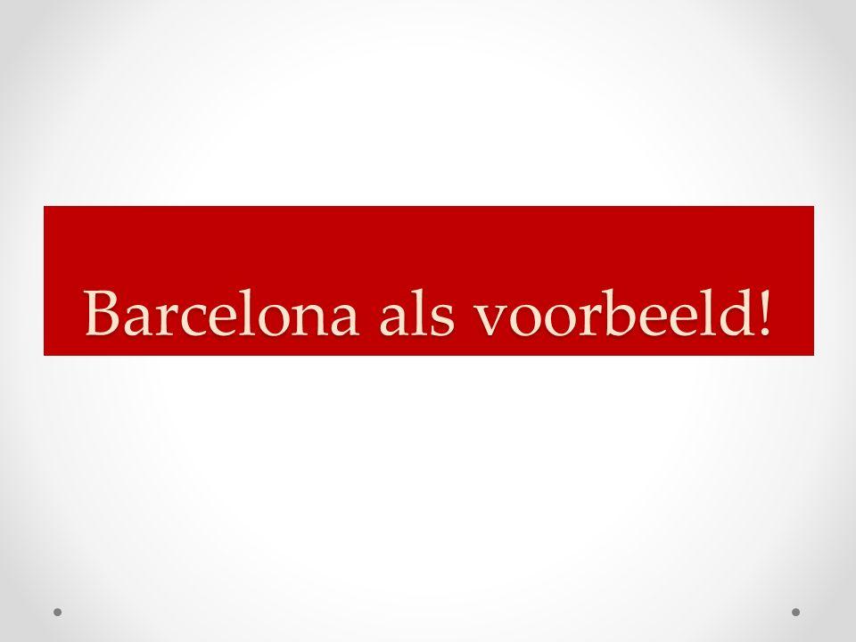 Barcelona als voorbeeld!