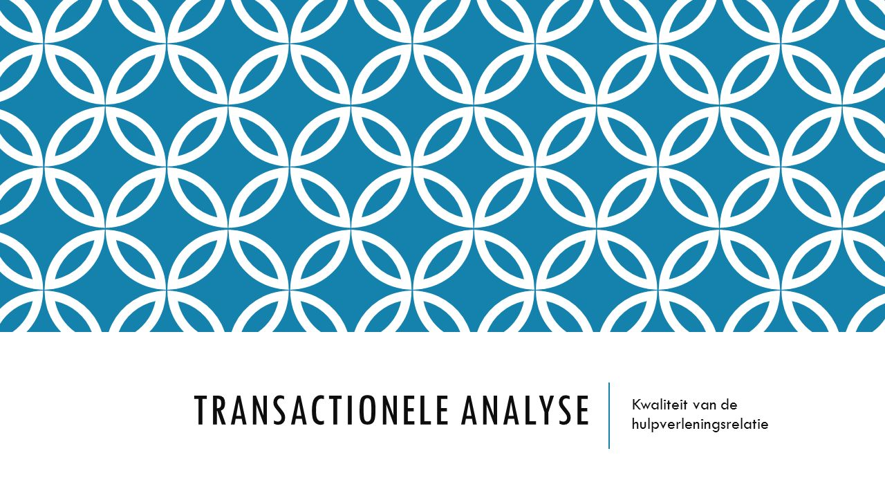 Transactionele analyse