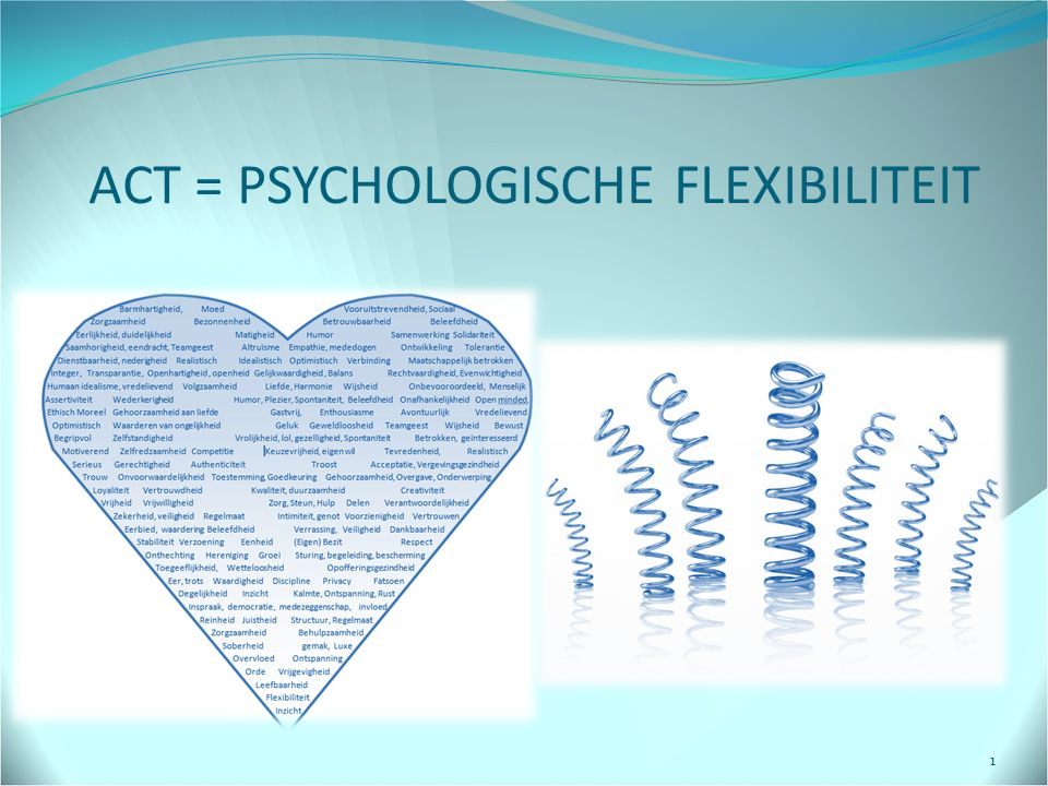 ACT = PSYCHOLOGISCHE FLEXIBILITEIT
