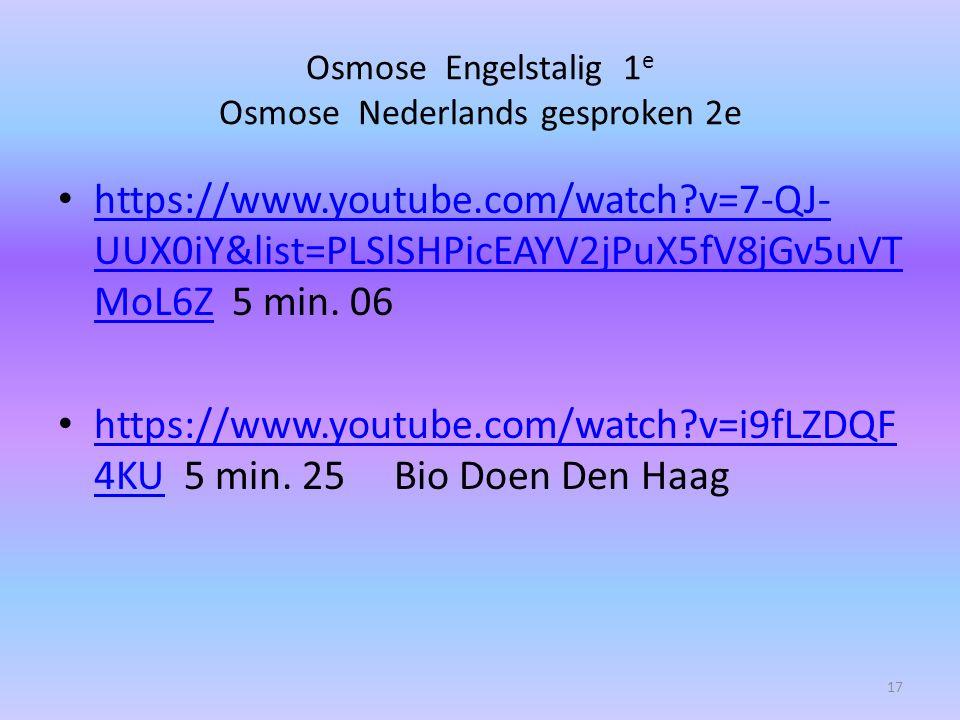 Osmose Engelstalig 1e Osmose Nederlands gesproken 2e