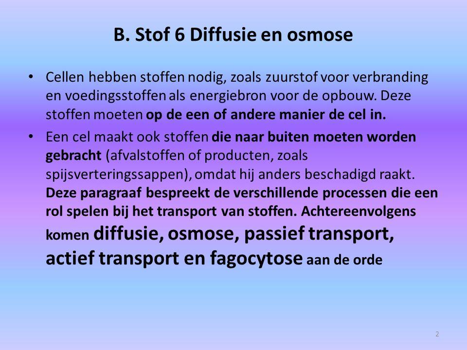 B. Stof 6 Diffusie en osmose