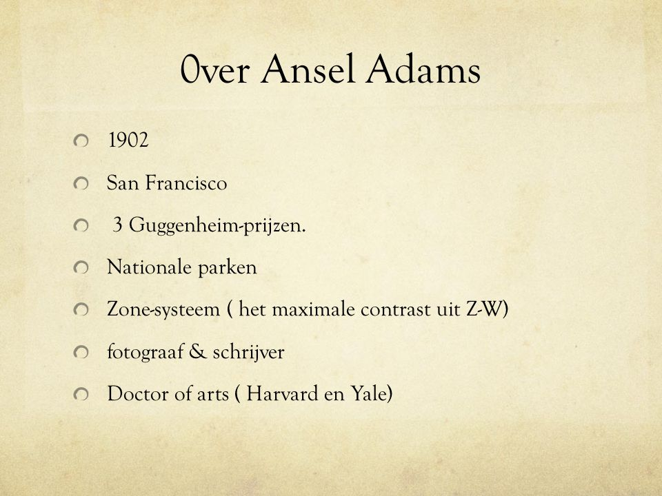 0ver Ansel Adams 1902 San Francisco 3 Guggenheim-prijzen.