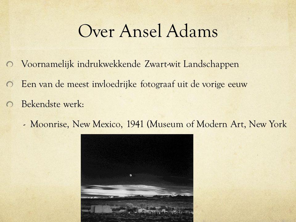 Over Ansel Adams Voornamelijk indrukwekkende Zwart-wit Landschappen