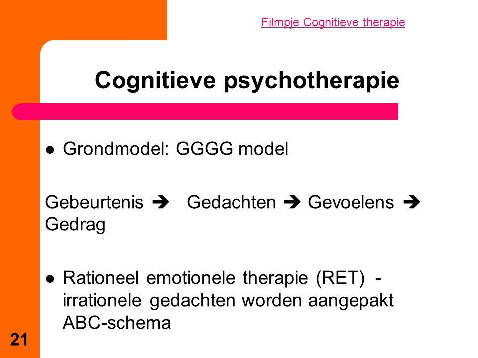 Cognitieve psychotherapie