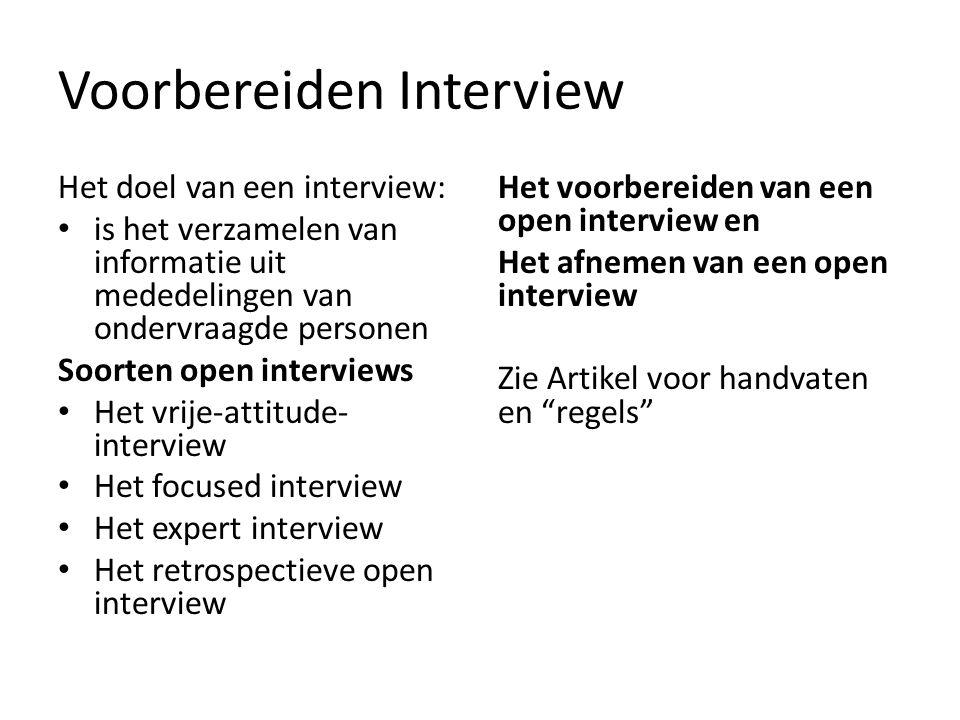 Voorbereiden Interview