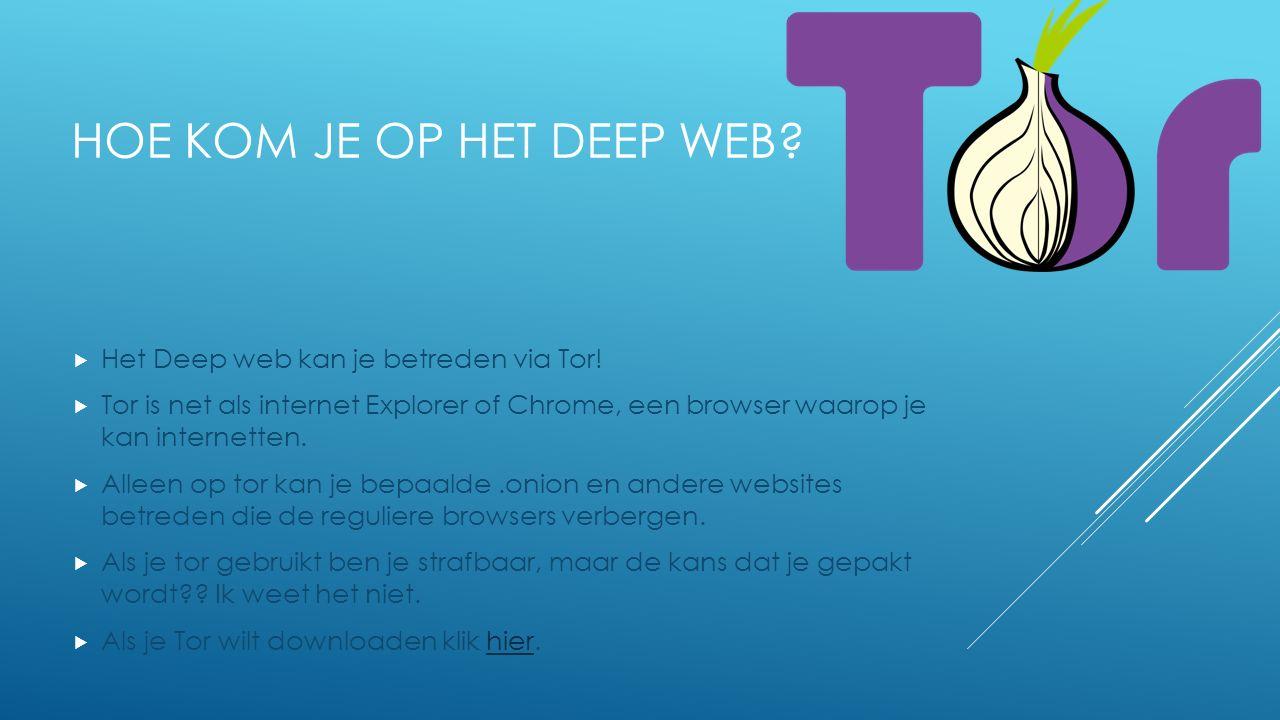 Hoe kom je op het deep web