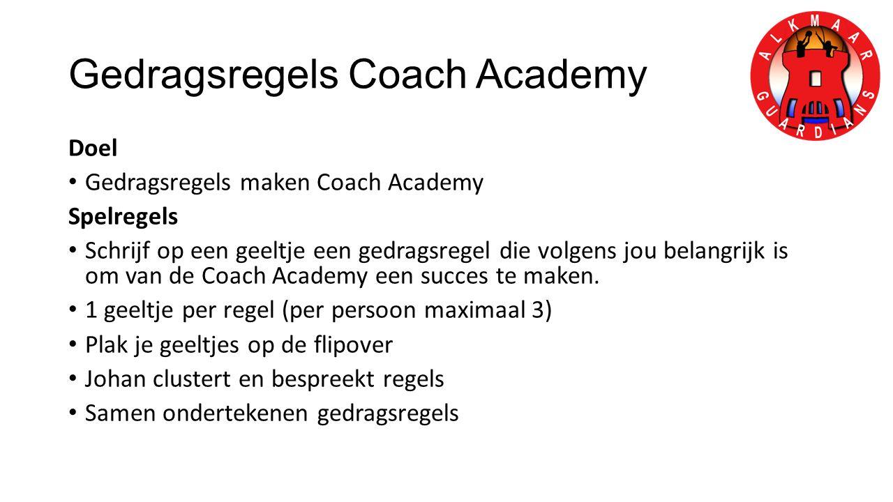 Gedragsregels Coach Academy