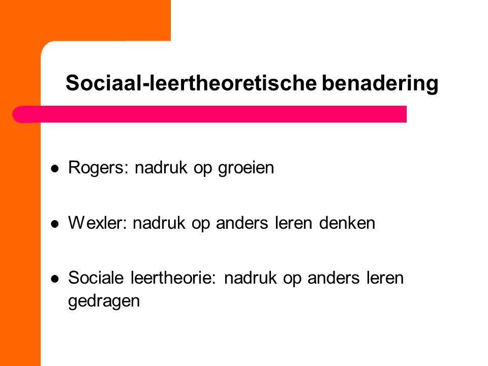Sociaal-leertheoretische benadering
