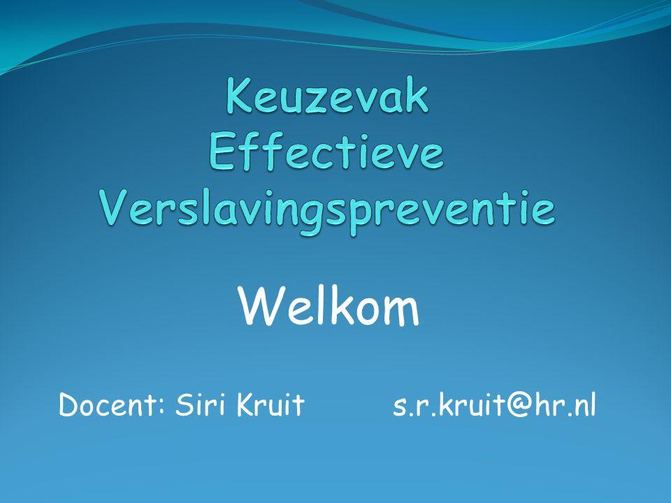 Keuzevak Effectieve Verslavingspreventie