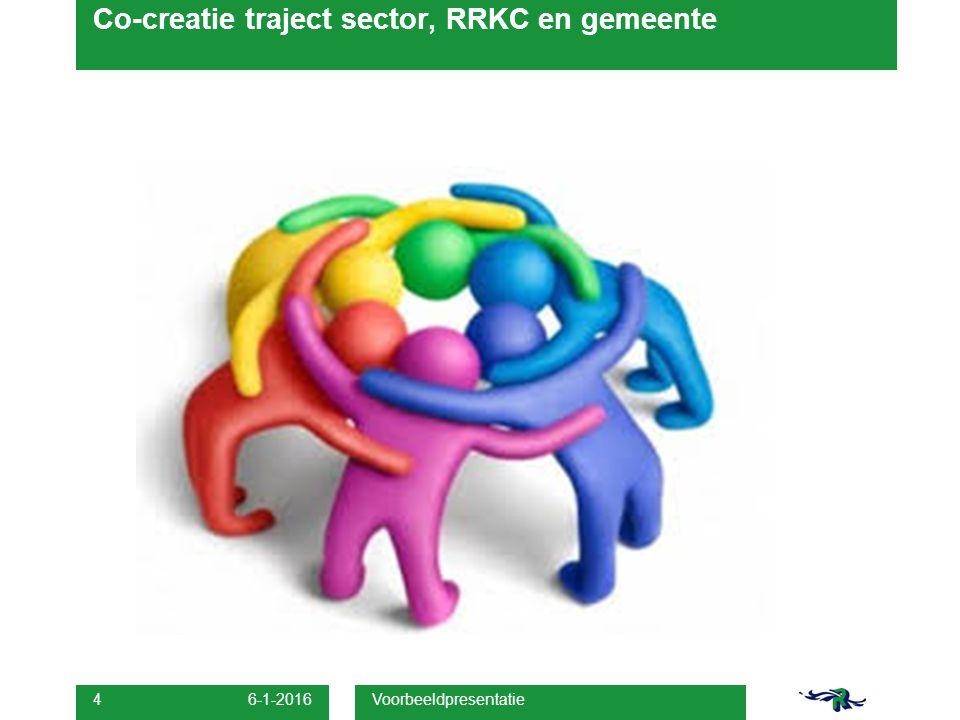 Co-creatie traject sector, RRKC en gemeente