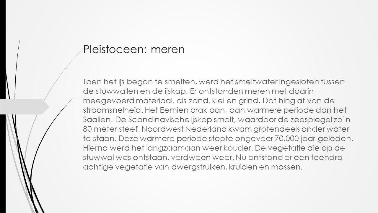 Pleistoceen: meren