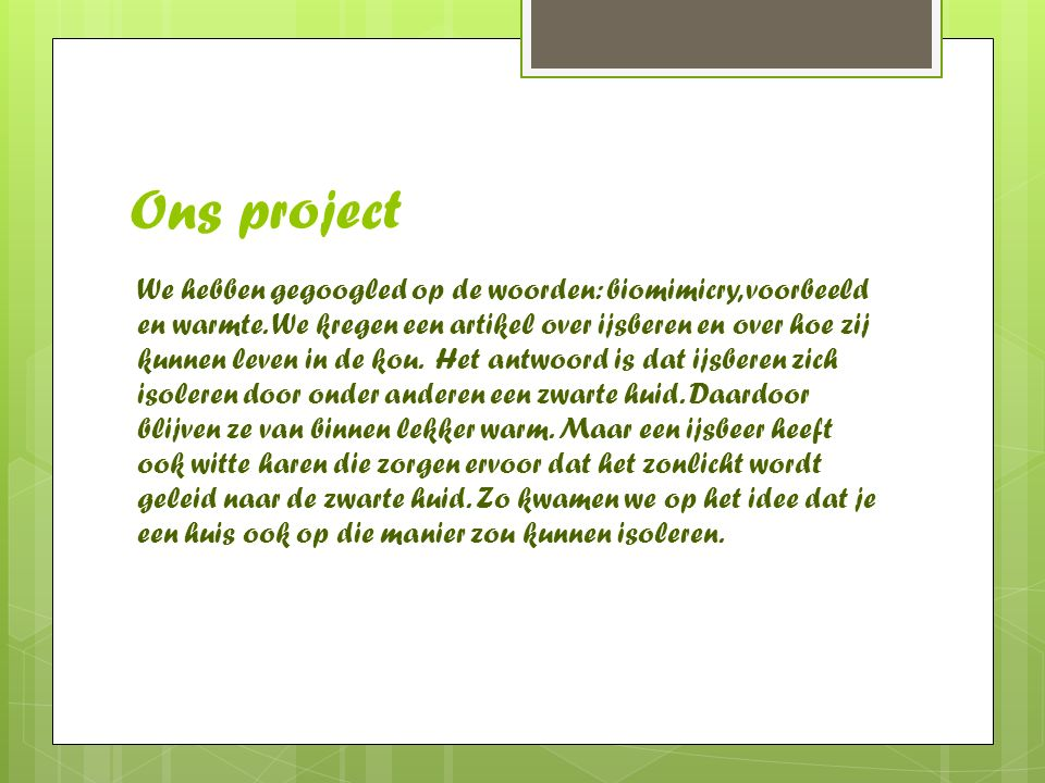 Ons project